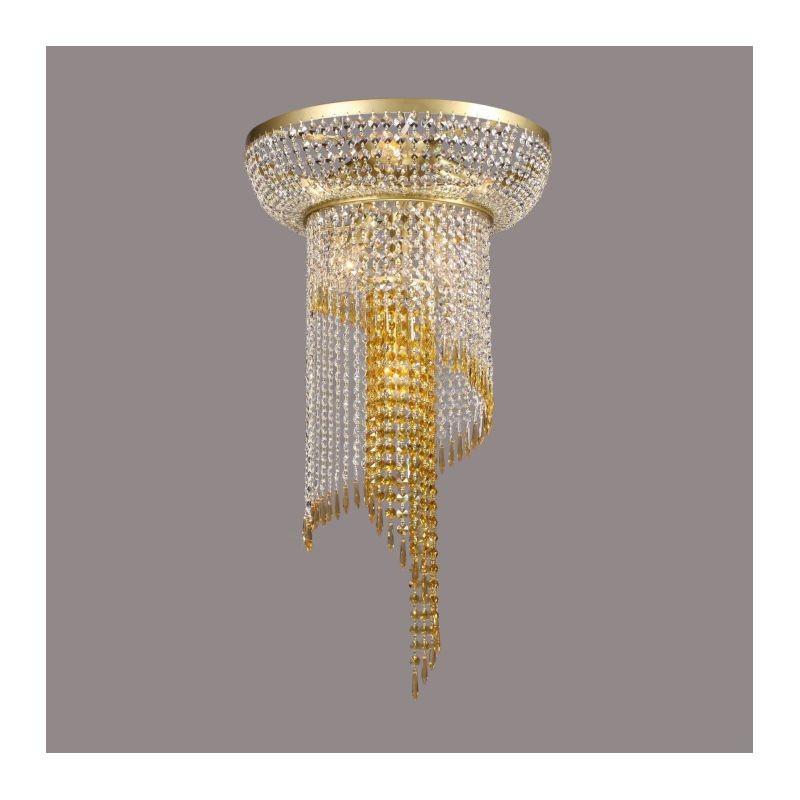 Plafoniera Cristal Bohemia diametru 40cm auriu mat, Plafoniere Cristal Bohemia, Corpuri de iluminat, lustre, aplice, veioze, lampadare, plafoniere. Mobilier si decoratiuni, oglinzi, scaune, fotolii. Oferte speciale iluminat interior si exterior. Livram in toata tara.  a