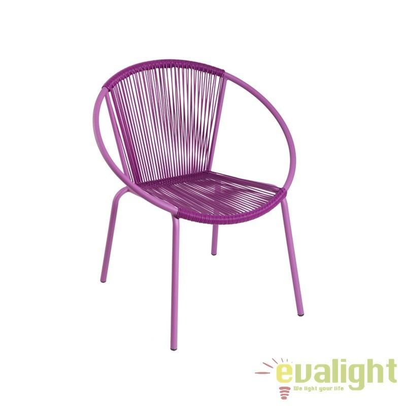 Scaun de exterior violet design modern Gracia 32983 SAP, Mobilier terasa si gradina, Corpuri de iluminat, lustre, aplice, veioze, lampadare, plafoniere. Mobilier si decoratiuni, oglinzi, scaune, fotolii. Oferte speciale iluminat interior si exterior. Livram in toata tara.  a