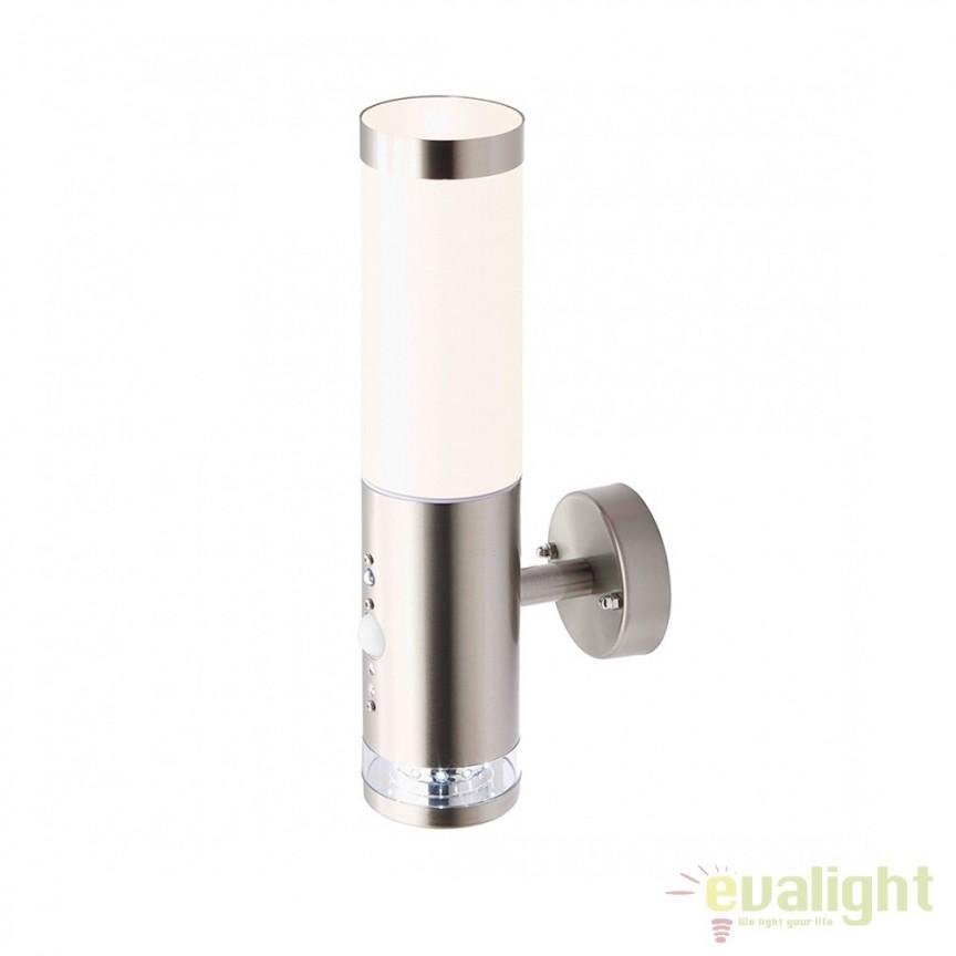 Aplica de perete LED exterior cu senzor de miscare IP44 Bole I G96131/82 BL, Iluminat cu senzor de miscare, Corpuri de iluminat, lustre, aplice, veioze, lampadare, plafoniere. Mobilier si decoratiuni, oglinzi, scaune, fotolii. Oferte speciale iluminat interior si exterior. Livram in toata tara.  a
