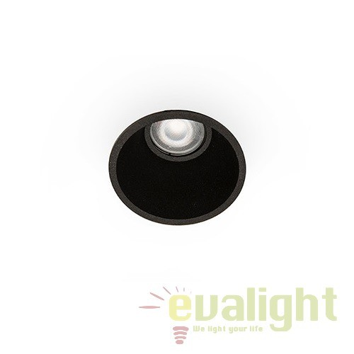 Spot incastrabil modern FRESH negru 02200502 Faro Barcelona, Spoturi incastrate, aplicate - tavan / perete, Corpuri de iluminat, lustre, aplice, veioze, lampadare, plafoniere. Mobilier si decoratiuni, oglinzi, scaune, fotolii. Oferte speciale iluminat interior si exterior. Livram in toata tara.  a