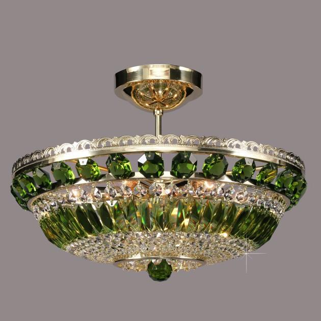 Lustra Cristal Bohemia diametru 45cm, olivine L15 365/06/6 olivine, Plafoniere Cristal Bohemia, Corpuri de iluminat, lustre, aplice, veioze, lampadare, plafoniere. Mobilier si decoratiuni, oglinzi, scaune, fotolii. Oferte speciale iluminat interior si exterior. Livram in toata tara.  a