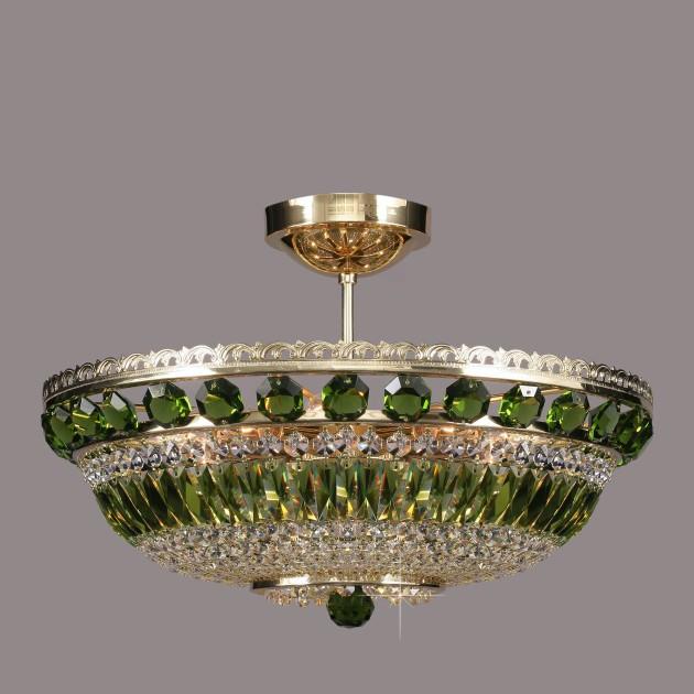 Lustra Cristal Bohemia L15 365/09/6 olivine, Plafoniere Cristal Bohemia, Corpuri de iluminat, lustre, aplice, veioze, lampadare, plafoniere. Mobilier si decoratiuni, oglinzi, scaune, fotolii. Oferte speciale iluminat interior si exterior. Livram in toata tara.  a