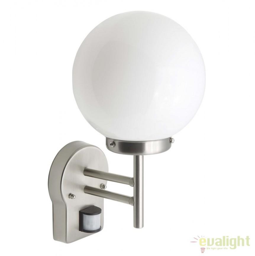 Aplica de perete iluminat exterior cu senzor miscare IP44 Aalborg LED G44097/82 BL, Iluminat cu senzor de miscare, Corpuri de iluminat, lustre, aplice, veioze, lampadare, plafoniere. Mobilier si decoratiuni, oglinzi, scaune, fotolii. Oferte speciale iluminat interior si exterior. Livram in toata tara.  a