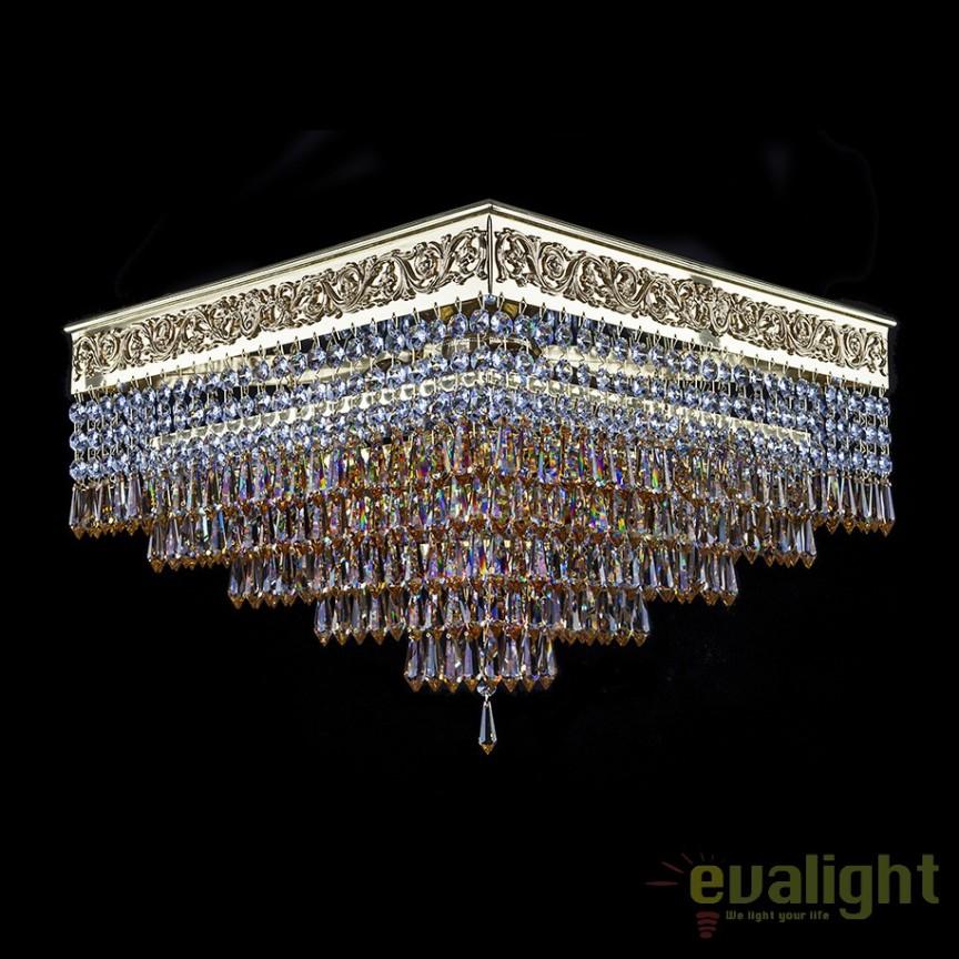 Plafoniera design LUX, cristal Bohemia DARIAN 42x42cm , Plafoniere Cristal Bohemia, Corpuri de iluminat, lustre, aplice, veioze, lampadare, plafoniere. Mobilier si decoratiuni, oglinzi, scaune, fotolii. Oferte speciale iluminat interior si exterior. Livram in toata tara.  a