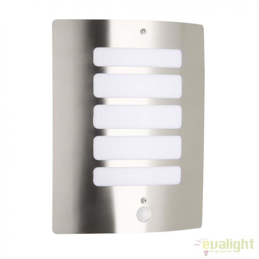 Aplica de perete iluminat exterior cu senzor IP44 Todd otel 47698/82 BL, Iluminat cu senzor de miscare, Corpuri de iluminat, lustre, aplice, veioze, lampadare, plafoniere. Mobilier si decoratiuni, oglinzi, scaune, fotolii. Oferte speciale iluminat interior si exterior. Livram in toata tara.  a