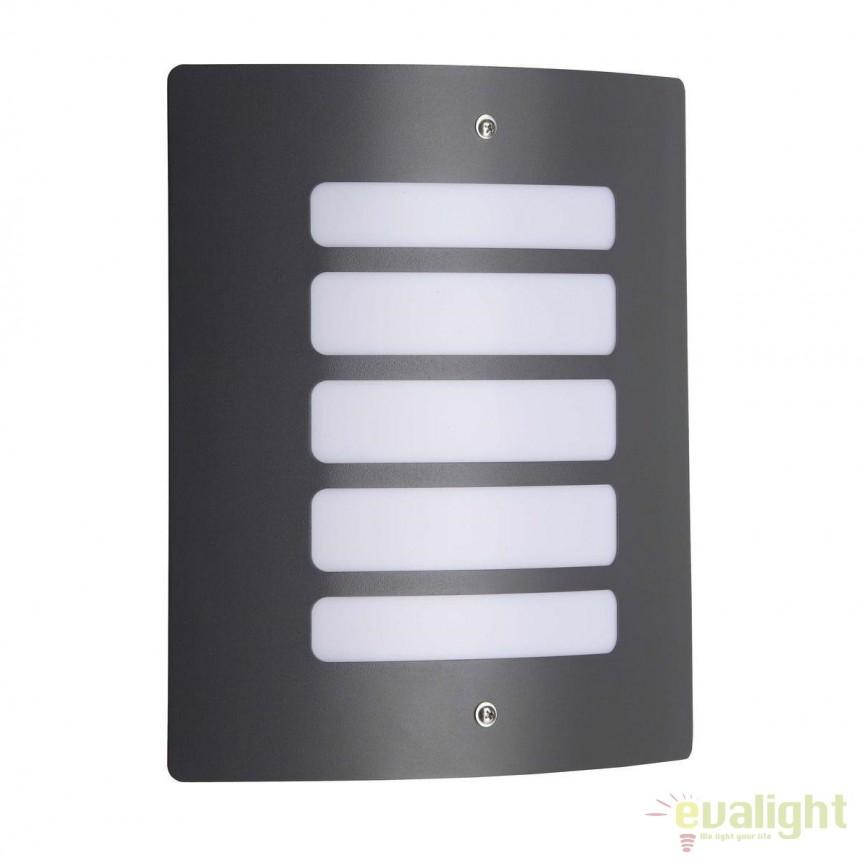 Aplica de perete iluminat exterior IP44 Todd gri inchis 47682/63 BL, PROMOTII, Corpuri de iluminat, lustre, aplice, veioze, lampadare, plafoniere. Mobilier si decoratiuni, oglinzi, scaune, fotolii. Oferte speciale iluminat interior si exterior. Livram in toata tara.  a