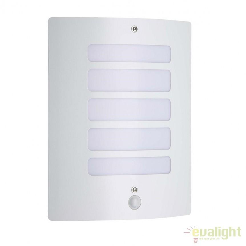 Aplica de perete iluminat exterior cu senzor IP44 Todd alba 47698/05 BL, Iluminat cu senzor de miscare, Corpuri de iluminat, lustre, aplice, veioze, lampadare, plafoniere. Mobilier si decoratiuni, oglinzi, scaune, fotolii. Oferte speciale iluminat interior si exterior. Livram in toata tara.  a