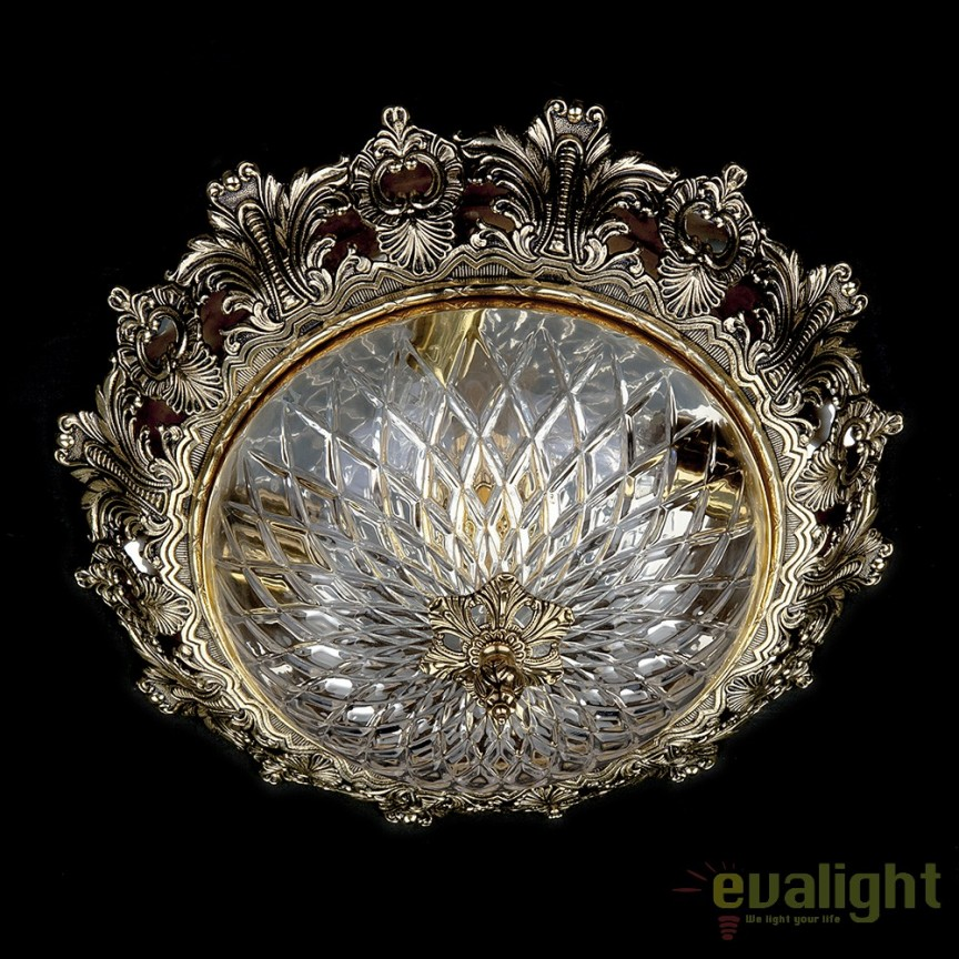 Plafoniera eleganta cristal Bohemia CHARLIZE 470, Plafoniere de exterior, Corpuri de iluminat, lustre, aplice, veioze, lampadare, plafoniere. Mobilier si decoratiuni, oglinzi, scaune, fotolii. Oferte speciale iluminat interior si exterior. Livram in toata tara.  a