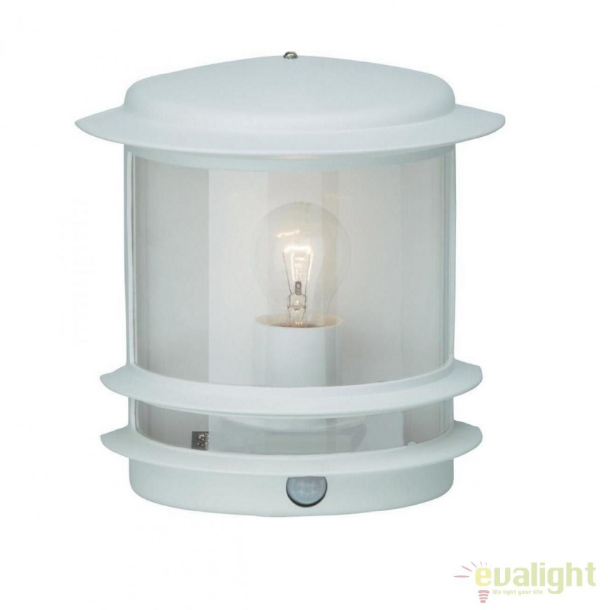 Aplica iluminat exterior cu senzor de miscare IP44 Hollywood alba 47897/05 BL, Iluminat cu senzor de miscare, Corpuri de iluminat, lustre, aplice, veioze, lampadare, plafoniere. Mobilier si decoratiuni, oglinzi, scaune, fotolii. Oferte speciale iluminat interior si exterior. Livram in toata tara.  a