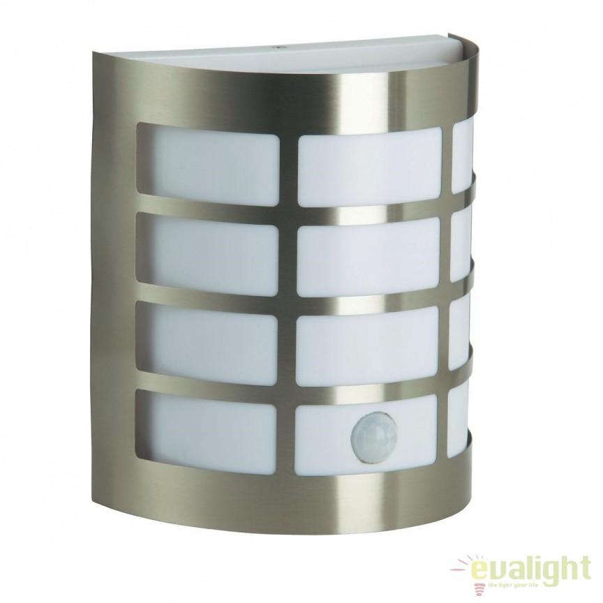 Aplica perete iluminat exterior cu senzor miscare IP44 Rune 96183/82 BL, Iluminat cu senzor de miscare, Corpuri de iluminat, lustre, aplice, veioze, lampadare, plafoniere. Mobilier si decoratiuni, oglinzi, scaune, fotolii. Oferte speciale iluminat interior si exterior. Livram in toata tara.  a