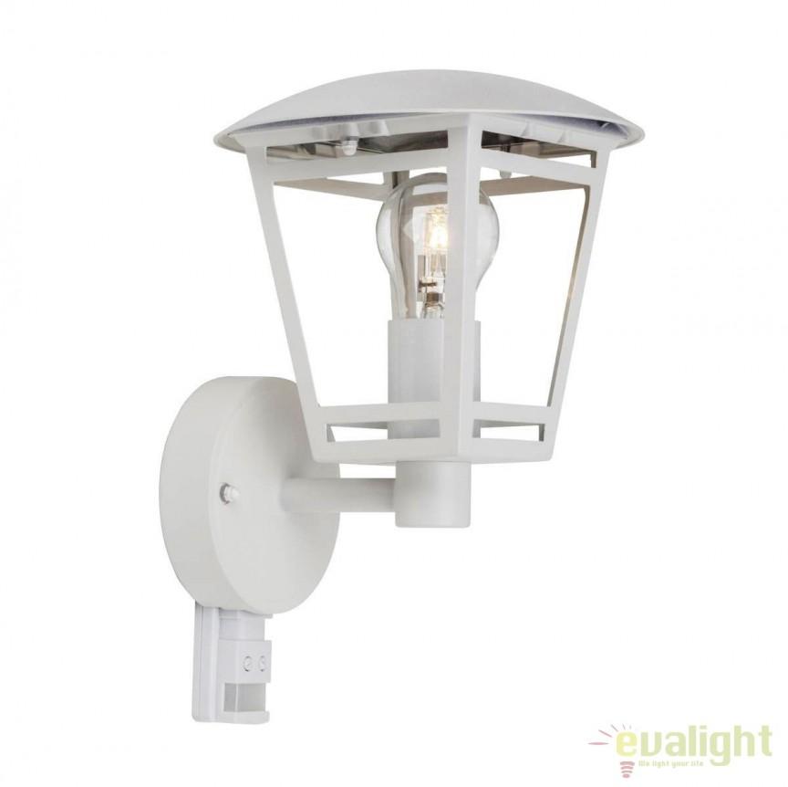 Aplica exterior clasica cu senzor IP44 Riley alba 42397/05 BL, Iluminat cu senzor de miscare, Corpuri de iluminat, lustre, aplice, veioze, lampadare, plafoniere. Mobilier si decoratiuni, oglinzi, scaune, fotolii. Oferte speciale iluminat interior si exterior. Livram in toata tara.  a