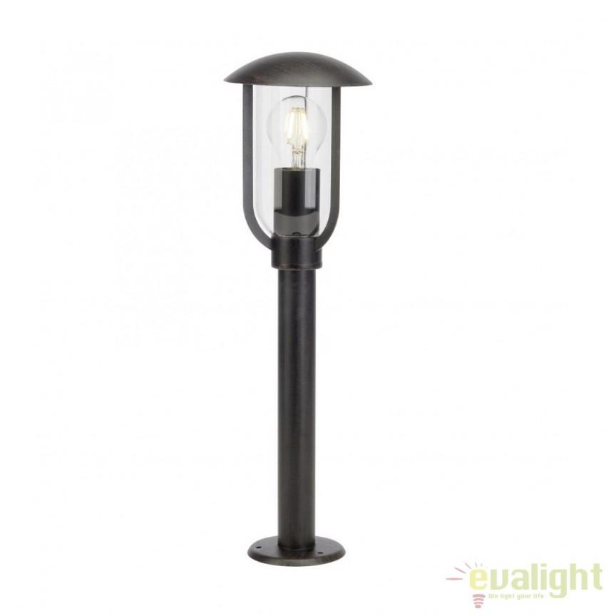 Stalp iluminat exterior stil clasic IP44 Fitzroy 45484/55 BL, Stalpi de iluminat exterior mici si medii , Corpuri de iluminat, lustre, aplice, veioze, lampadare, plafoniere. Mobilier si decoratiuni, oglinzi, scaune, fotolii. Oferte speciale iluminat interior si exterior. Livram in toata tara.  a