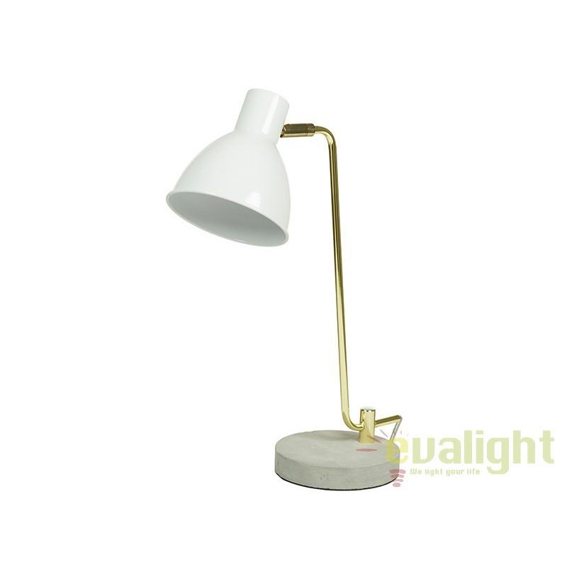 Lampa de birou alba design elegant Lavon 45664 SAP, Veioze de Birou moderne, Corpuri de iluminat, lustre, aplice, veioze, lampadare, plafoniere. Mobilier si decoratiuni, oglinzi, scaune, fotolii. Oferte speciale iluminat interior si exterior. Livram in toata tara.  a