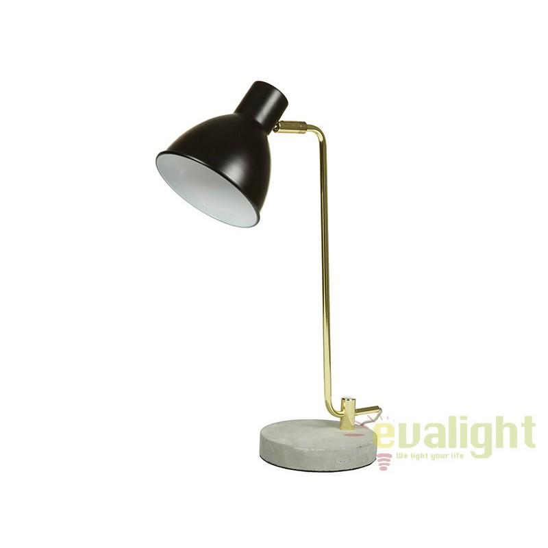 Lampa de birou neagra design elegant Lavon 45665 SAP, Veioze de Birou moderne, Corpuri de iluminat, lustre, aplice, veioze, lampadare, plafoniere. Mobilier si decoratiuni, oglinzi, scaune, fotolii. Oferte speciale iluminat interior si exterior. Livram in toata tara.  a