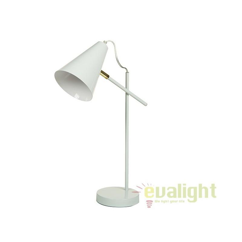Lampa de birou alba design modern Laila 45667 SAP, Veioze de Birou moderne, Corpuri de iluminat, lustre, aplice, veioze, lampadare, plafoniere. Mobilier si decoratiuni, oglinzi, scaune, fotolii. Oferte speciale iluminat interior si exterior. Livram in toata tara.  a