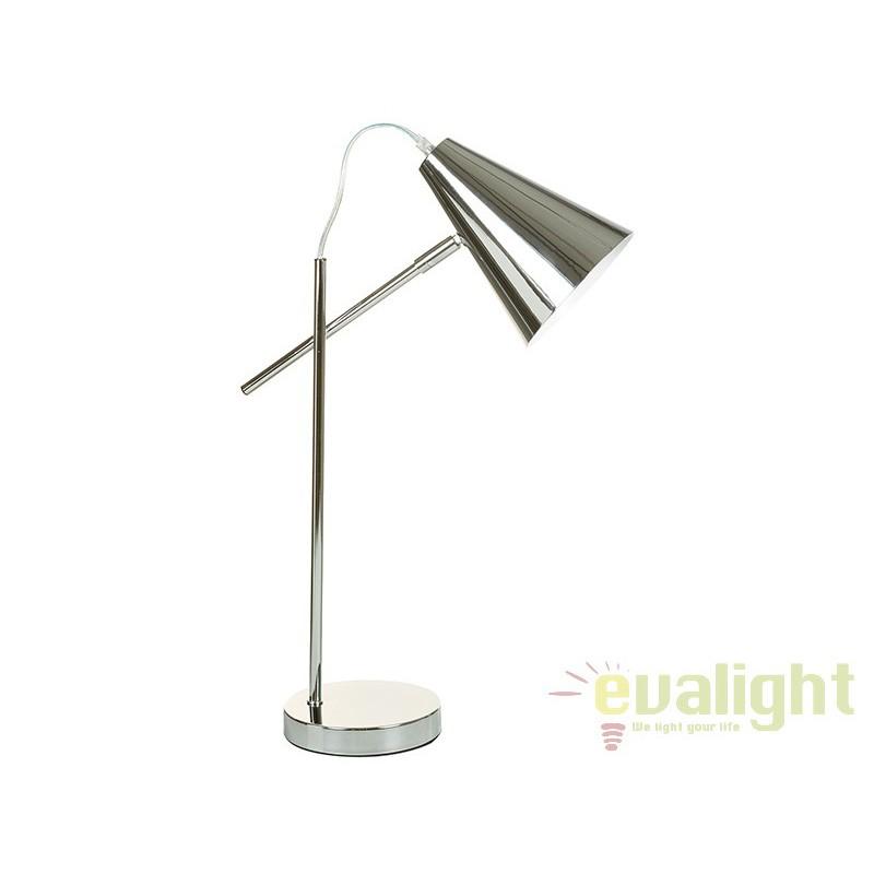 Lampa de birou cromata design modern Laila 45668 SAP, Veioze de Birou moderne, Corpuri de iluminat, lustre, aplice, veioze, lampadare, plafoniere. Mobilier si decoratiuni, oglinzi, scaune, fotolii. Oferte speciale iluminat interior si exterior. Livram in toata tara.  a
