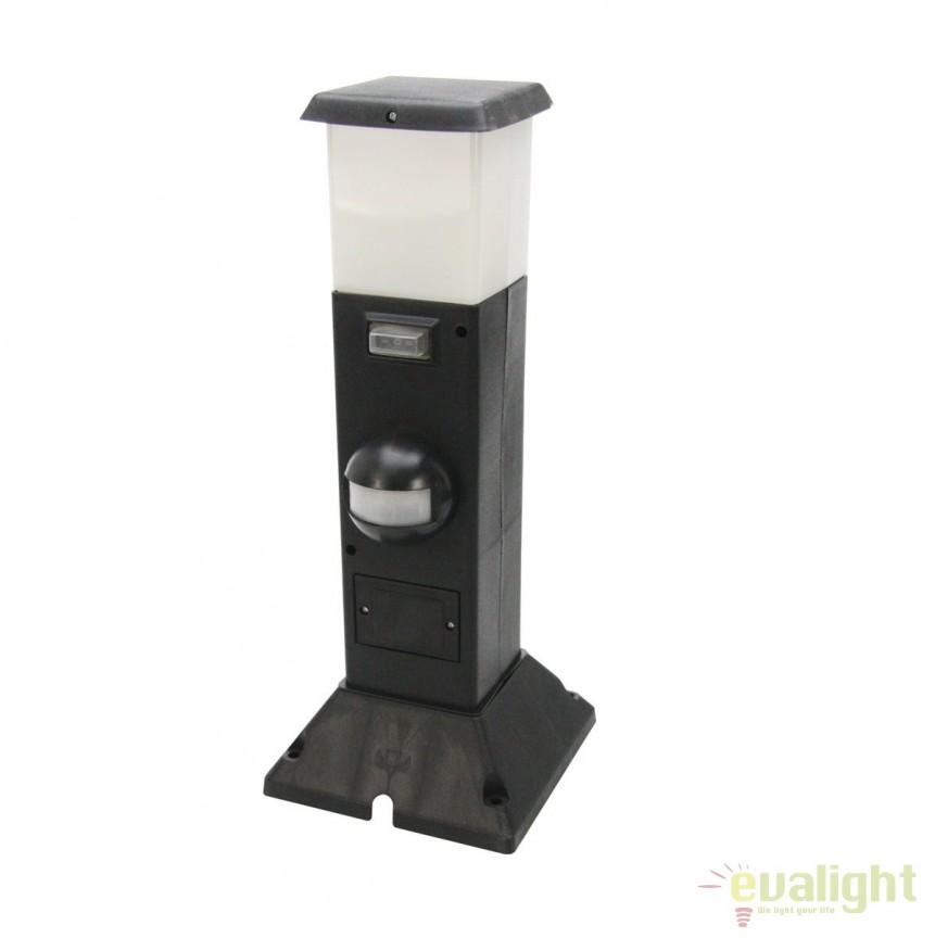 Stalp LED exterior cu senzor si priza IP44 SHANGHAI 35111 HT, Stalpi de iluminat exterior mici si medii , Corpuri de iluminat, lustre, aplice, veioze, lampadare, plafoniere. Mobilier si decoratiuni, oglinzi, scaune, fotolii. Oferte speciale iluminat interior si exterior. Livram in toata tara.  a