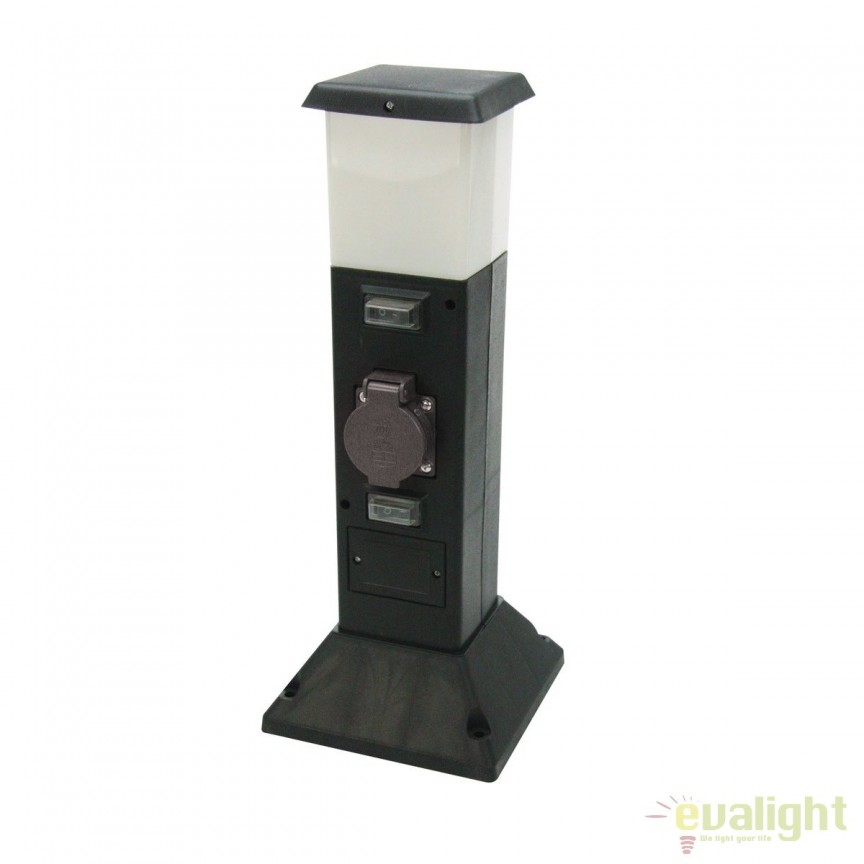 Stalp LED exterior cu priza IP44 SHANGHAI 35112 HT, Stalpi de iluminat exterior mici si medii , Corpuri de iluminat, lustre, aplice, veioze, lampadare, plafoniere. Mobilier si decoratiuni, oglinzi, scaune, fotolii. Oferte speciale iluminat interior si exterior. Livram in toata tara.  a