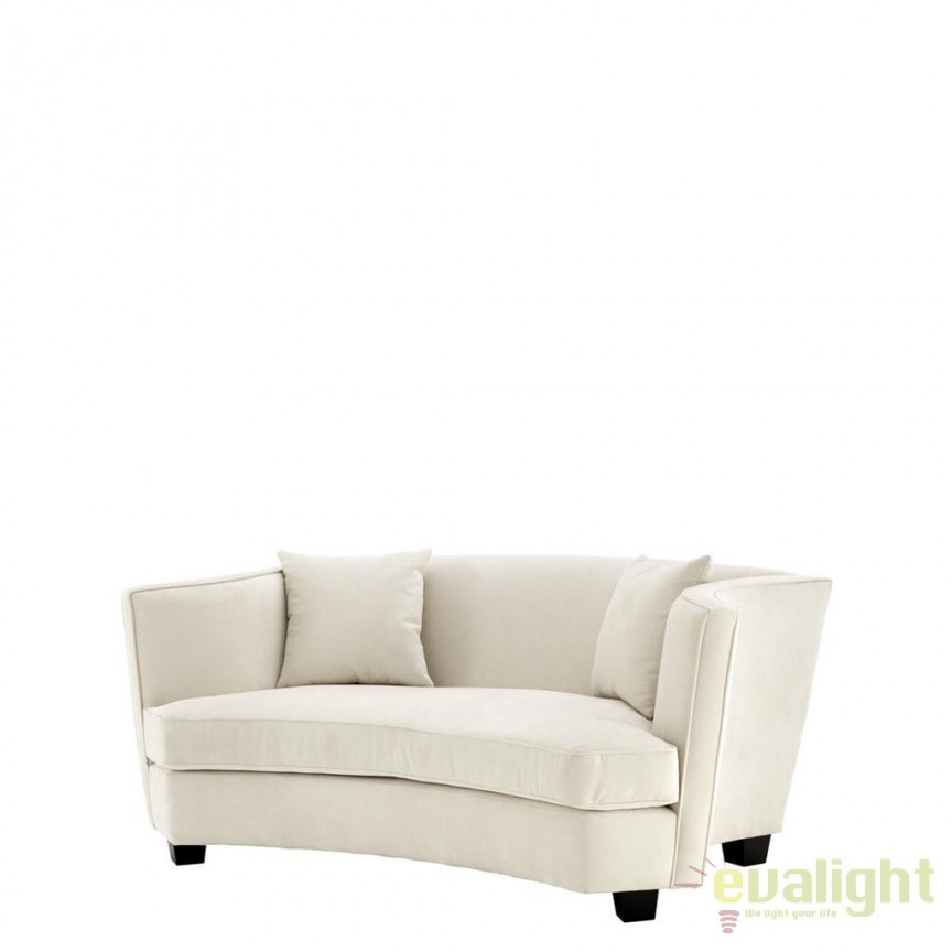 Canapea tapitata design lux, eleganta cu brate curbate, Giulietta 111056 HZ, MOBILA SI DECORATIUNI , Corpuri de iluminat, lustre, aplice, veioze, lampadare, plafoniere. Mobilier si decoratiuni, oglinzi, scaune, fotolii. Oferte speciale iluminat interior si exterior. Livram in toata tara.  a