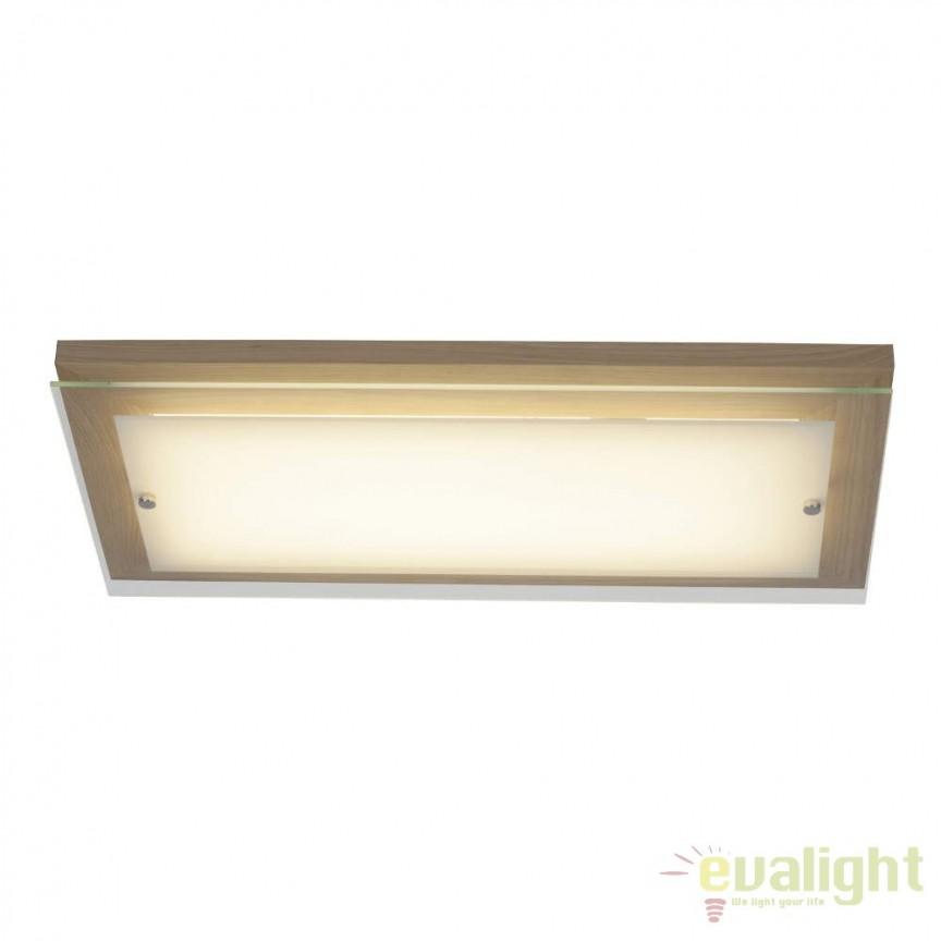 Plafoniera din lemn si sticla, LED Hardwood 57x29cm G94479/35 BL, ILUMINAT INTERIOR LED , Corpuri de iluminat, lustre, aplice, veioze, lampadare, plafoniere. Mobilier si decoratiuni, oglinzi, scaune, fotolii. Oferte speciale iluminat interior si exterior. Livram in toata tara.  a