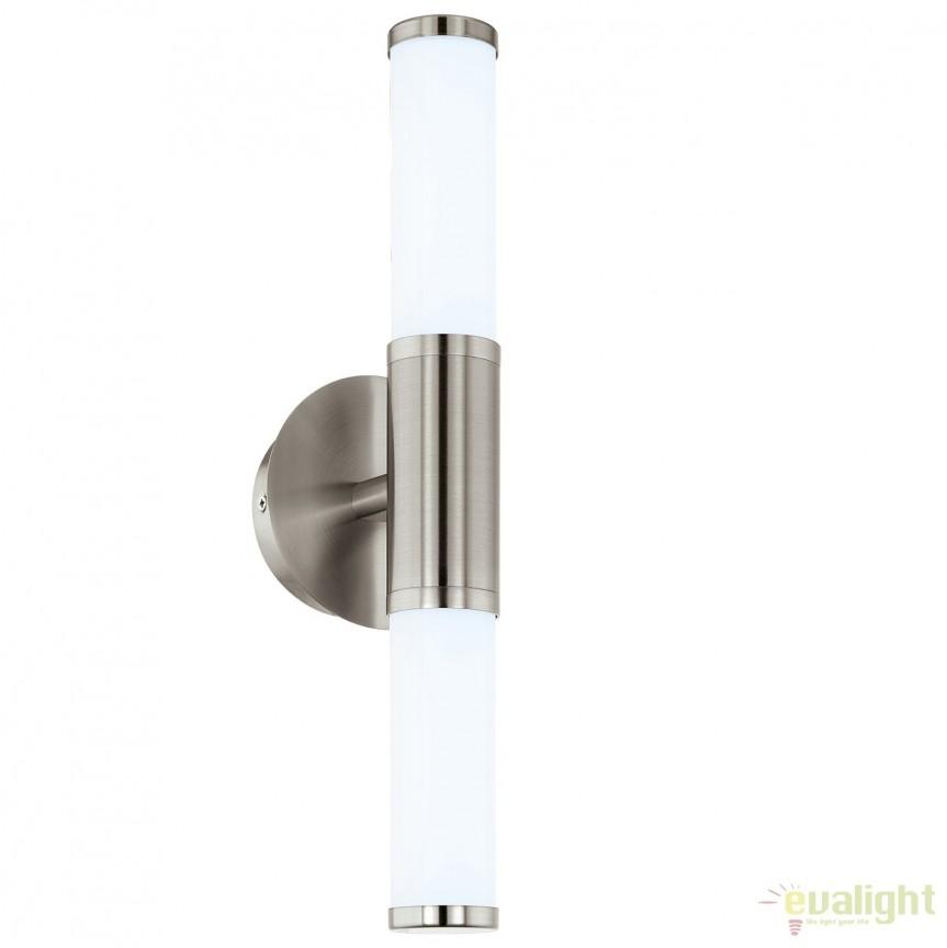 Aplica iluminat LED cu protectie IP44, pentru oglinda baie PALMERA 1 nickel 95144 EL, Aplice pentru baie, oglinda, tablou, Corpuri de iluminat, lustre, aplice, veioze, lampadare, plafoniere. Mobilier si decoratiuni, oglinzi, scaune, fotolii. Oferte speciale iluminat interior si exterior. Livram in toata tara.  a