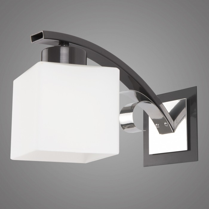 Aplica de perete moderna ATRATO grafit/ crom AT/K/1/P/G KM, CORPURI DE ILUMINAT INTERIOR MODERN, Corpuri de iluminat, lustre, aplice, veioze, lampadare, plafoniere. Mobilier si decoratiuni, oglinzi, scaune, fotolii. Oferte speciale iluminat interior si exterior. Livram in toata tara.  a