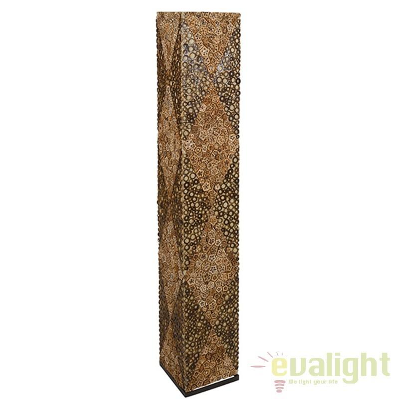 Lampadar din bambus si lemn de mahon design vintage Johna 46121 SAP, Cele mai noi produse 2017 a