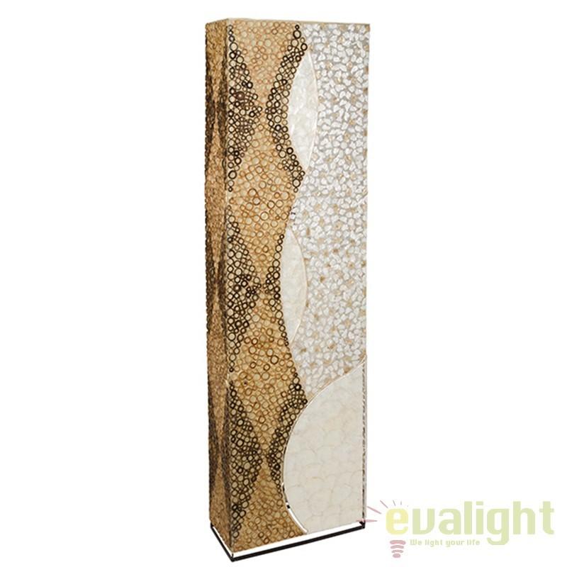 Lampadar din bambus si scoici design vintage Jeanne 46122 SAP, Cele mai noi produse 2017 a