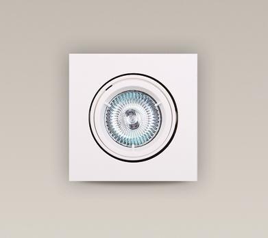 Spot alb incastrabil, dim.9,5x9,5cm, H0039 MX, Spoturi incastrate, aplicate - tavan / perete, Corpuri de iluminat, lustre, aplice a
