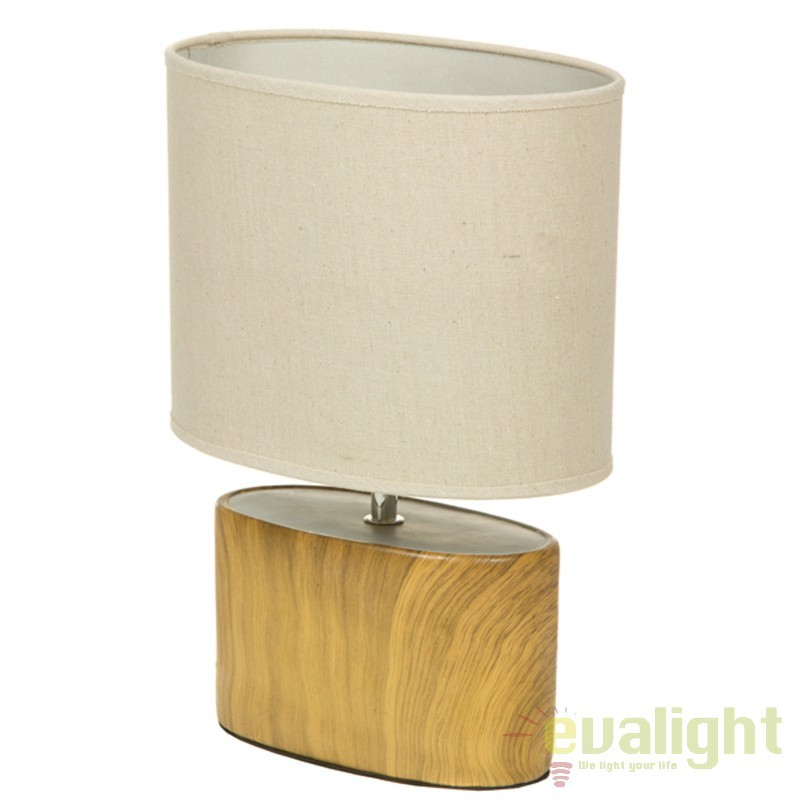 Lampa de masa din ceramica cu aspect de lemn Fredia 43889 SAP, Veioze, Lampi de masa, Corpuri de iluminat, lustre, aplice, veioze, lampadare, plafoniere. Mobilier si decoratiuni, oglinzi, scaune, fotolii. Oferte speciale iluminat interior si exterior. Livram in toata tara.  a