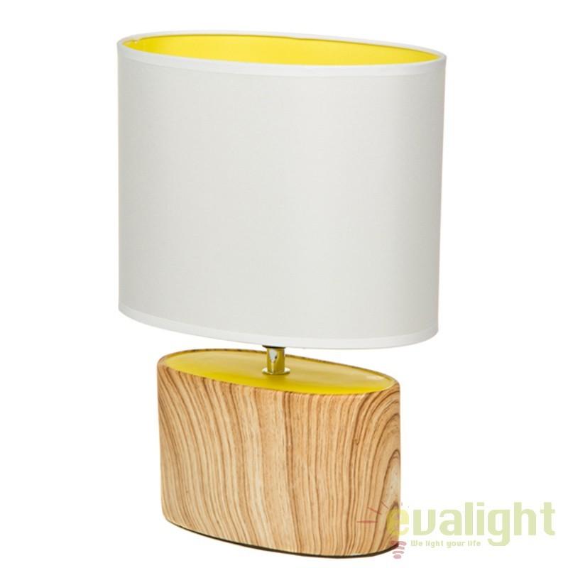 Lampa de masa din ceramica cu aspect de lemn Fredia 43890 SAP, Veioze, Lampi de masa, Corpuri de iluminat, lustre, aplice, veioze, lampadare, plafoniere. Mobilier si decoratiuni, oglinzi, scaune, fotolii. Oferte speciale iluminat interior si exterior. Livram in toata tara.  a