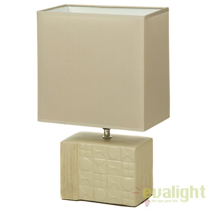 Lampa de masa crem din ceramica design elegant Fran 43897 SAP, Veioze, Lampi de masa, Corpuri de iluminat, lustre, aplice, veioze, lampadare, plafoniere. Mobilier si decoratiuni, oglinzi, scaune, fotolii. Oferte speciale iluminat interior si exterior. Livram in toata tara.  a