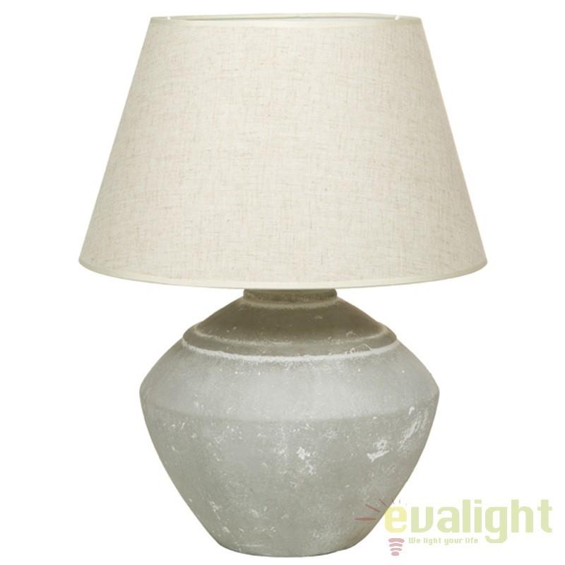 Lampa de masa din ceramica si abajur din in Polly 43899 SAP, Veioze, Lampi de masa, Corpuri de iluminat, lustre, aplice, veioze, lampadare, plafoniere. Mobilier si decoratiuni, oglinzi, scaune, fotolii. Oferte speciale iluminat interior si exterior. Livram in toata tara.  a