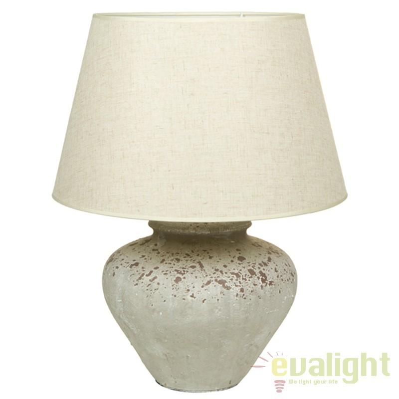 Lampa de masa din ceramica si abajur din in Polly 43900 SAP, Veioze, Lampi de masa, Corpuri de iluminat, lustre, aplice, veioze, lampadare, plafoniere. Mobilier si decoratiuni, oglinzi, scaune, fotolii. Oferte speciale iluminat interior si exterior. Livram in toata tara.  a