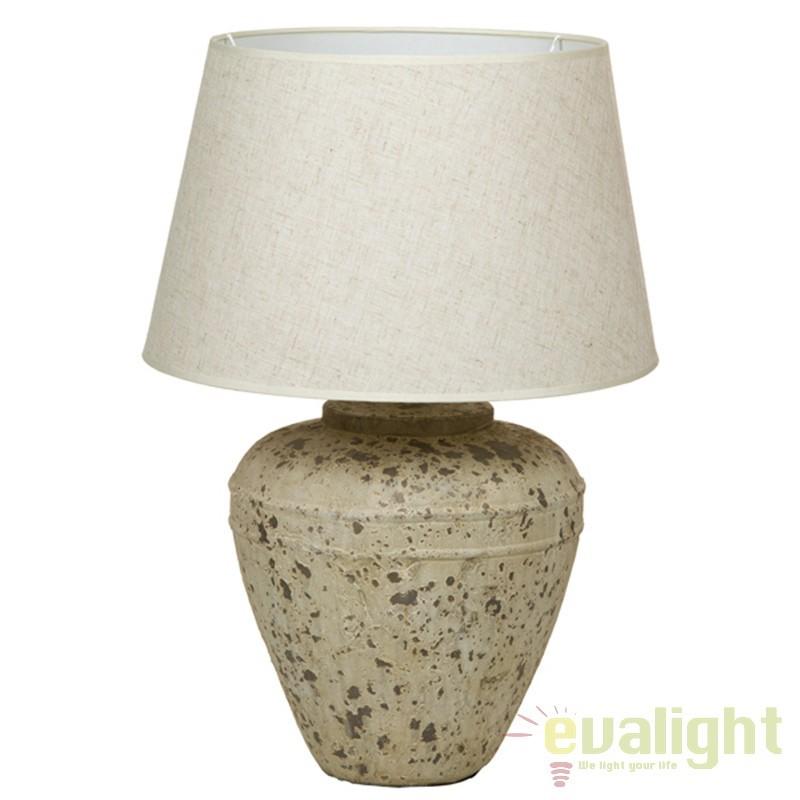 Lampa de masa din ceramica si abajur din in Polly 43901 SAP, Veioze, Lampi de masa, Corpuri de iluminat, lustre, aplice, veioze, lampadare, plafoniere. Mobilier si decoratiuni, oglinzi, scaune, fotolii. Oferte speciale iluminat interior si exterior. Livram in toata tara.  a