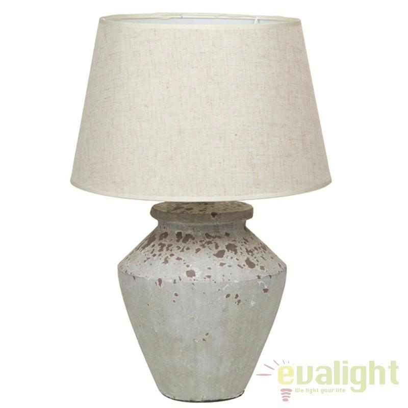 Lampa de masa din ceramica si abajur din in Polly 43902 SAP, Veioze, Lampi de masa, Corpuri de iluminat, lustre, aplice, veioze, lampadare, plafoniere. Mobilier si decoratiuni, oglinzi, scaune, fotolii. Oferte speciale iluminat interior si exterior. Livram in toata tara.  a