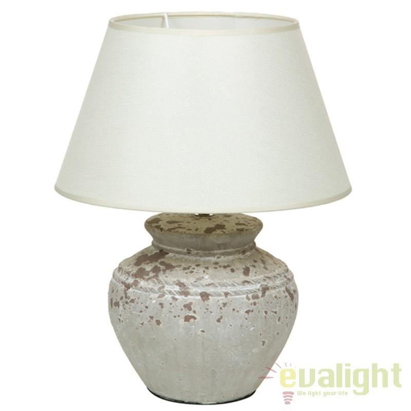 Lampa de masa din ceramica si abajur din in Polly 43903 SAP, Veioze, Lampi de masa, Corpuri de iluminat, lustre, aplice, veioze, lampadare, plafoniere. Mobilier si decoratiuni, oglinzi, scaune, fotolii. Oferte speciale iluminat interior si exterior. Livram in toata tara.  a