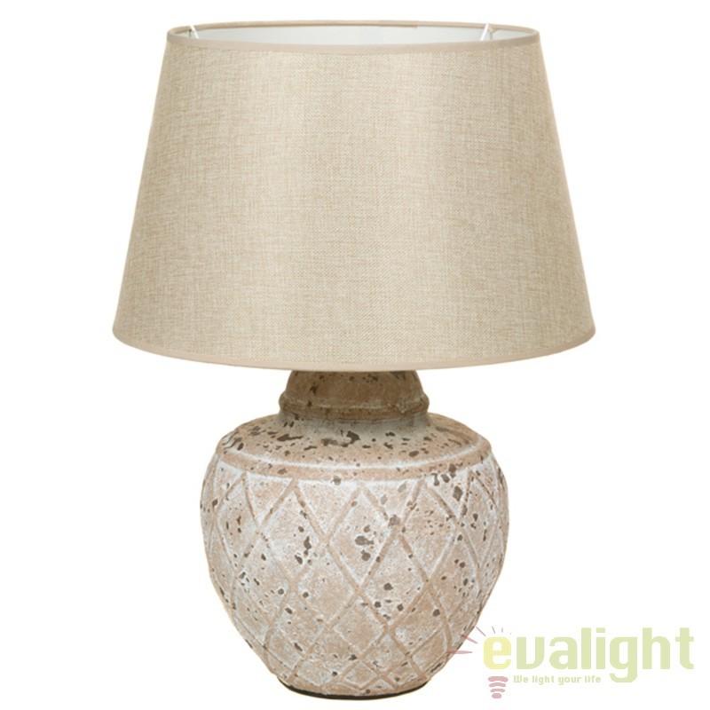 Lampa de masa din ceramica si abajur din in Polly 43905 SAP, Veioze, Lampi de masa, Corpuri de iluminat, lustre, aplice, veioze, lampadare, plafoniere. Mobilier si decoratiuni, oglinzi, scaune, fotolii. Oferte speciale iluminat interior si exterior. Livram in toata tara.  a