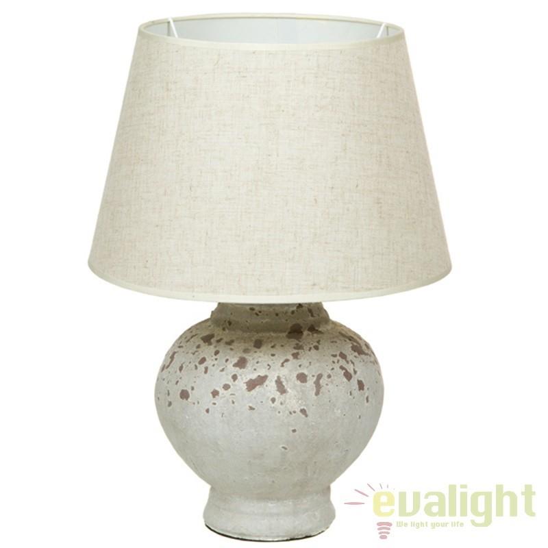 Lampa de masa din ceramica si abajur din in Polly 43907 SAP, Veioze, Lampi de masa, Corpuri de iluminat, lustre, aplice, veioze, lampadare, plafoniere. Mobilier si decoratiuni, oglinzi, scaune, fotolii. Oferte speciale iluminat interior si exterior. Livram in toata tara.  a