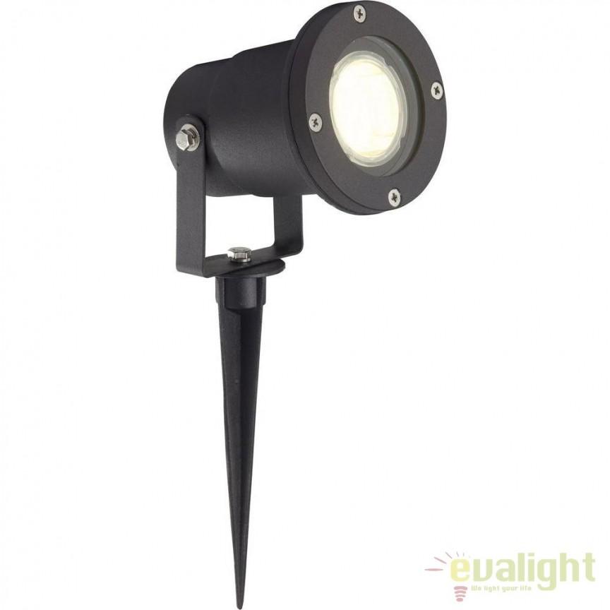 Proiector LED cu tarus iluminat exterior IP44 Janko I G96232/06 BL, Proiectoare de exterior cu tarus, Corpuri de iluminat, lustre, aplice, veioze, lampadare, plafoniere. Mobilier si decoratiuni, oglinzi, scaune, fotolii. Oferte speciale iluminat interior si exterior. Livram in toata tara.  a