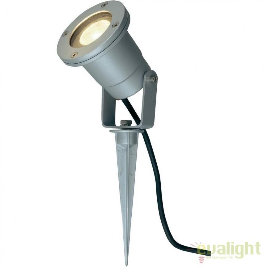 Proiector LED cu tarus iluminat exterior IP44 Janko II G96232/22 BL, Proiectoare de exterior cu tarus, Corpuri de iluminat, lustre, aplice, veioze, lampadare, plafoniere. Mobilier si decoratiuni, oglinzi, scaune, fotolii. Oferte speciale iluminat interior si exterior. Livram in toata tara.  a