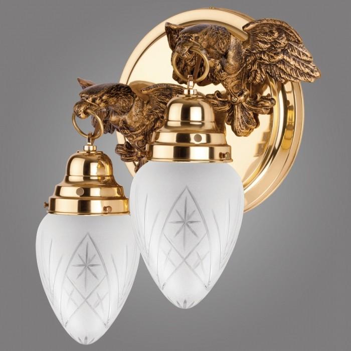 Aplica LUX design clasic, decorata cu vultur stilizat, Ouro alama OK60/2 KM, PROMOTII, Corpuri de iluminat, lustre, aplice, veioze, lampadare, plafoniere. Mobilier si decoratiuni, oglinzi, scaune, fotolii. Oferte speciale iluminat interior si exterior. Livram in toata tara.  a