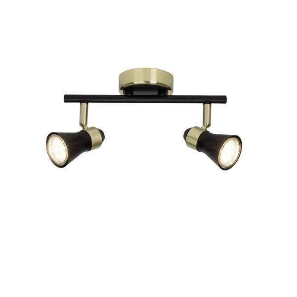 Plafoniera cu 2 spoturi directionabile JUPP 15913/78 BL, Promotii si Reduceri⭐ Oferte ✅Corpuri de iluminat ✅Lustre ✅Mobila ✅Decoratiuni de interior si exterior.⭕Pret redus online➜Lichidari de stoc❗ Magazin ➽ www.evalight.ro. a