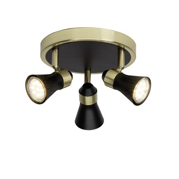 Plafoniera cu 3 spoturi directionabile JUPP 15934/78 BL, Spoturi - iluminat - cu 3 spoturi, Corpuri de iluminat, lustre, aplice, veioze, lampadare, plafoniere. Mobilier si decoratiuni, oglinzi, scaune, fotolii. Oferte speciale iluminat interior si exterior. Livram in toata tara.  a