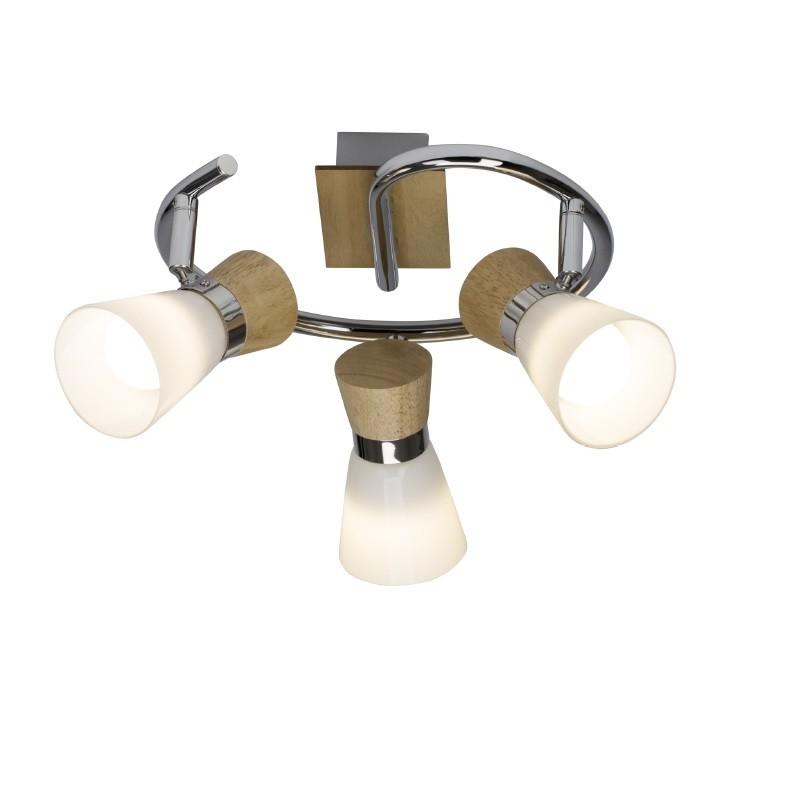 Plafoniera cu 3 spoturi directionabile NACOLLA 56333/75 BL, Spoturi - iluminat - cu 3 spoturi, Corpuri de iluminat, lustre, aplice, veioze, lampadare, plafoniere. Mobilier si decoratiuni, oglinzi, scaune, fotolii. Oferte speciale iluminat interior si exterior. Livram in toata tara.  a