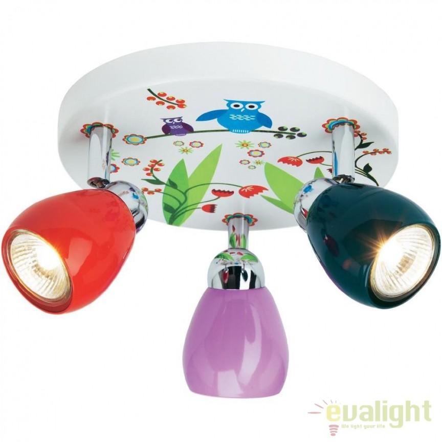 Plafoniera LED camera copii Birds G56034/72 BL, PROMOTII, Corpuri de iluminat, lustre, aplice, veioze, lampadare, plafoniere. Mobilier si decoratiuni, oglinzi, scaune, fotolii. Oferte speciale iluminat interior si exterior. Livram in toata tara.  a