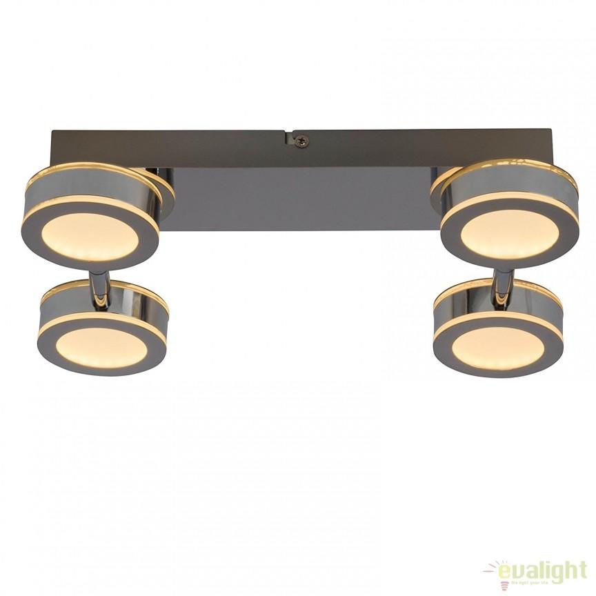 Plafoniera LED cu 4 spoturi directionabile Movable G94483/15 BL, Plafoniere LED, Spoturi LED, Corpuri de iluminat, lustre, aplice, veioze, lampadare, plafoniere. Mobilier si decoratiuni, oglinzi, scaune, fotolii. Oferte speciale iluminat interior si exterior. Livram in toata tara.  a