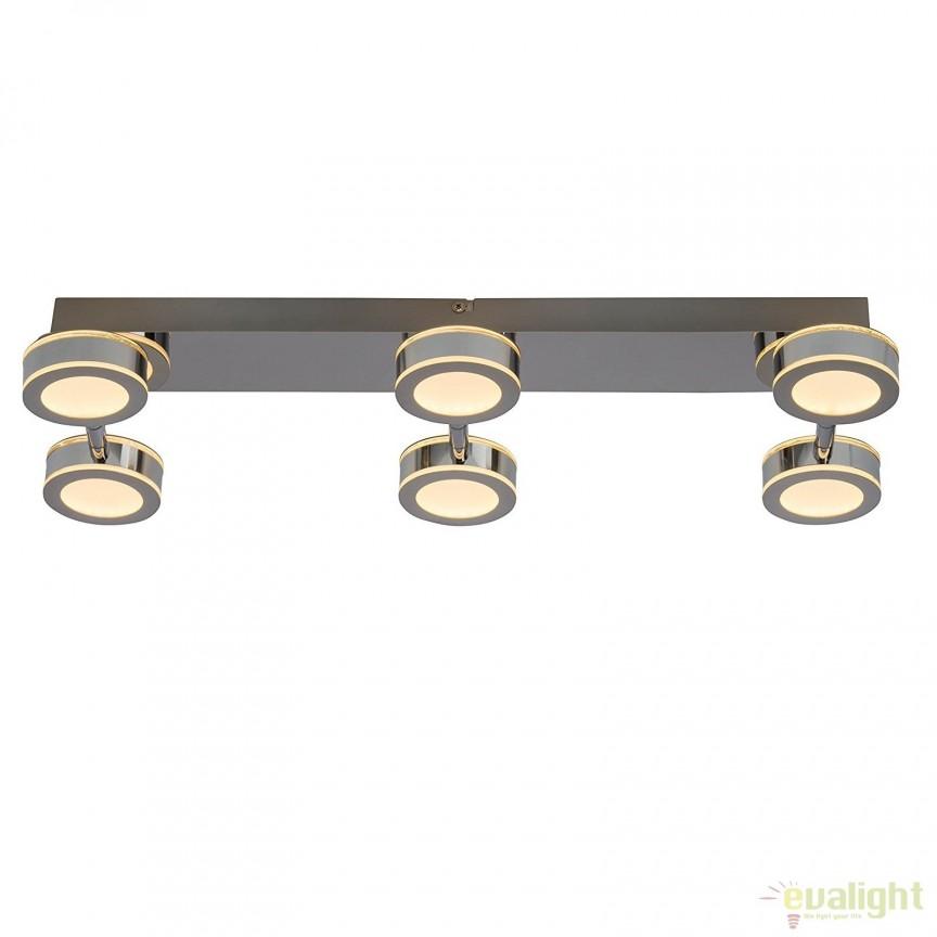 Plafoniera LED cu 6 spoturi directionabile Movable G94484/15 BL, Plafoniere LED, Spoturi LED, Corpuri de iluminat, lustre, aplice, veioze, lampadare, plafoniere. Mobilier si decoratiuni, oglinzi, scaune, fotolii. Oferte speciale iluminat interior si exterior. Livram in toata tara.  a