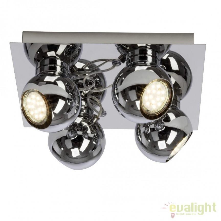 Plafoniera LED cu 4 spoturi directionabile Magnito LED G21635/15 BL, Plafoniere LED, Spoturi LED, Corpuri de iluminat, lustre, aplice, veioze, lampadare, plafoniere. Mobilier si decoratiuni, oglinzi, scaune, fotolii. Oferte speciale iluminat interior si exterior. Livram in toata tara.  a