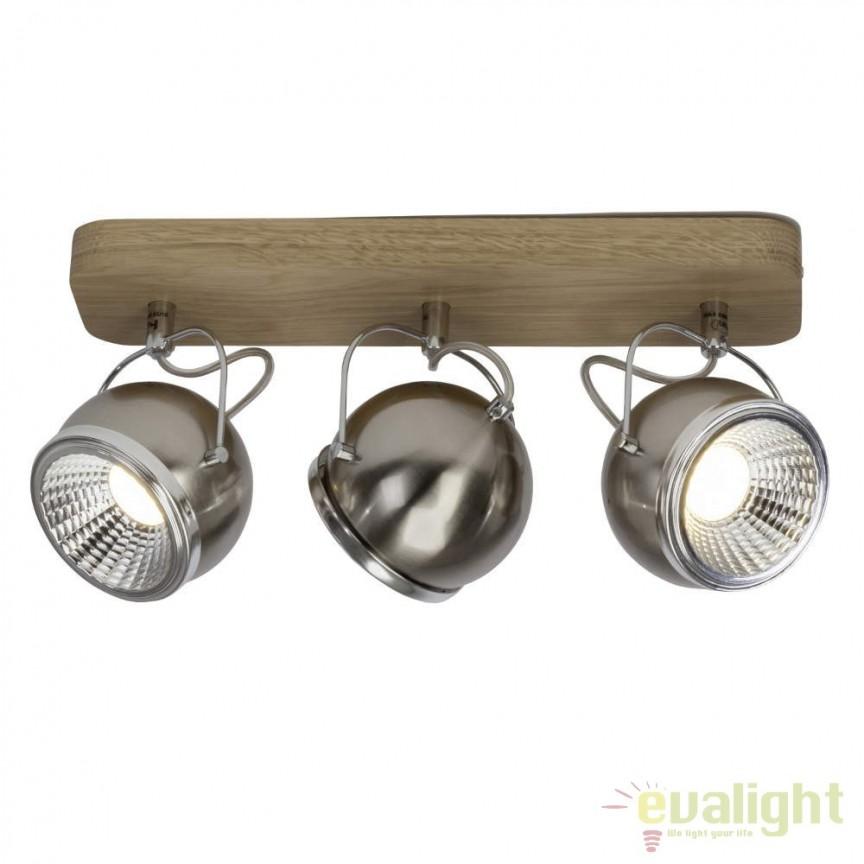 Plafoniera LED cu 3 spoturi directionabile Tribe G33730/88 BL, Plafoniere LED, Spoturi LED, Corpuri de iluminat, lustre, aplice, veioze, lampadare, plafoniere. Mobilier si decoratiuni, oglinzi, scaune, fotolii. Oferte speciale iluminat interior si exterior. Livram in toata tara.  a